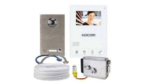 Комплект Kocom KCV-434SD+Slinex VR-15+электромеханический замок Atis Lock SSM