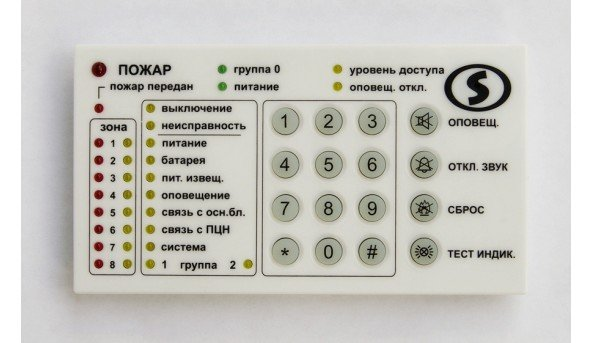 Клавіатура з групами Лінд-Т