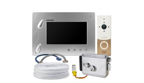 Комплект Commax CDV-70P (Silver)+ Slinex ML-20HR (gold+white) + Atis Lock SSM