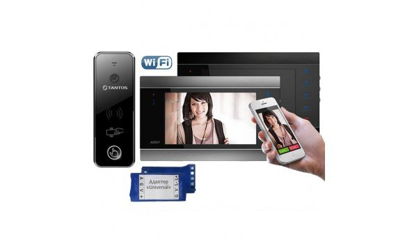 Для квартиры  ARNY AVD-720M Wi-Fi+Tantos iPanel 2 WG (black)+ Universal