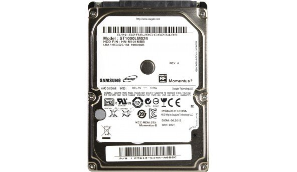 "Жесткий диск SAMSUNG HDD SATA 2.5""1TB 5400RPM 8MB ST1000LM024"