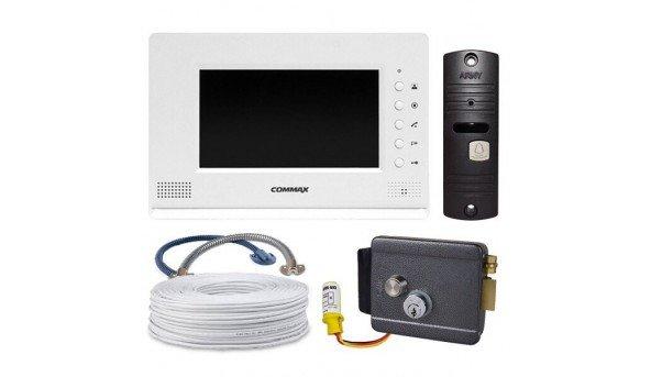 Комплект Commax CDV-70A Pearl+ARNY AVP-05+электромеханический замок Atis Lock G