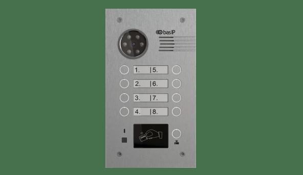 Вызывная панель BAS-IP BA-08E SILVER / BA-08M SILVER (на 8 абонентов)