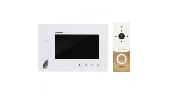 Для квартиры Commax CDV-70P (White)+Slinex ML-20 IP (бел+зол)
