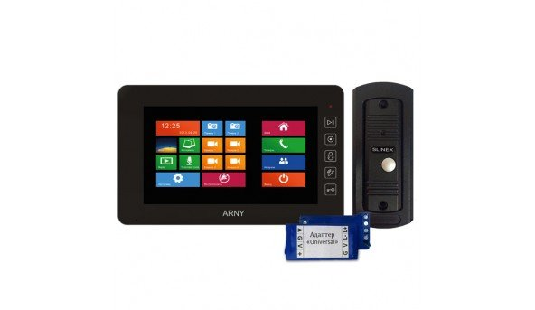 Для квартиры ARNY AVD-NG1093 +Slinex ML-16 CS (black)+адаптер Universal