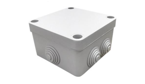 COURBI 100x100x50 серая Коробка распределительная с кабель-вводами
