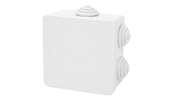COURBI 80x80x40 серая Коробка распределительная с кабель-вводами