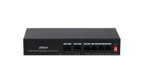 DH-PFS3006-4ET-36 4-портовый РоЕ коммутатор
