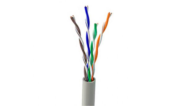 OK-Net КПВ-ВП (350) UTP кат.5е, 4х2х0.51 бухта 305м Витая пара (UTP медь внутренний)