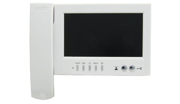 """Відеодомофон  кольорового зображення VIZIT-M468МW (TFT LCD7"""")(білий)"""