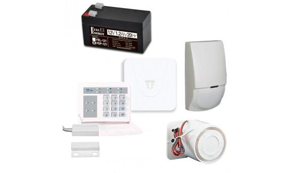 Комплект охранной сигнализации с Orion NOVA XS, клавиатурой, датчиком движения, герконом, сиреной, аккумулятором