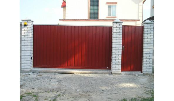 Откатные ворота Alutech 3000х2000 мм (толщина 96 мм)