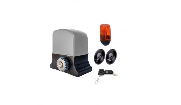 Комплект SET IZ-600 электропривод со встроенным блоком управления и приемником + пульт ДУ 4-х канальный 2 шт + PULSAR (230) сигнальная лампа + IR30M фотоэлементы для наружной установки