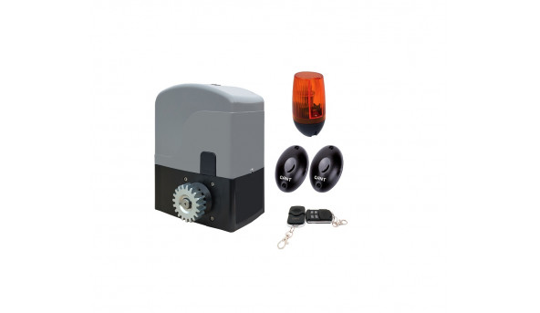 Комплект SET IZ-1200 электропривод + пульт ДУ 4-х канальный + PULSAR (230) сигнальная лампа + IR30M фотоэлементы для наружной установки