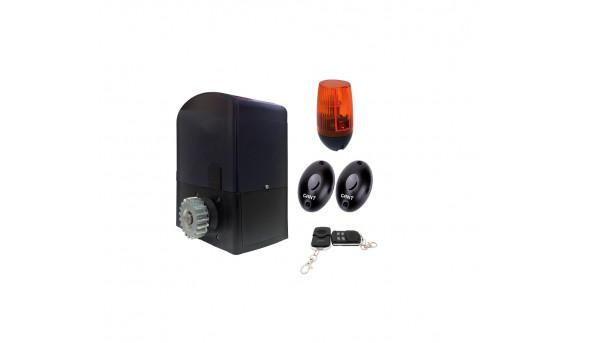 Комплект SET BA-400DC электропривод + пульт ДУ 4-х канальный + PULSAR (230) сигнальная лампа + IR30M фотоэлементы для наружной установки
