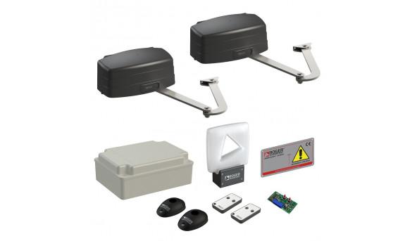 Автоматика для распашных ворот Roger Technology KIT R23/374 с удлиненными рычагами LT303 maxi комплект