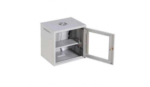 4U, 530х400х210 мм Шкаф, акриловое стекло, серый