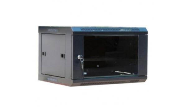 6U, 530х400х300 мм Шкаф, акриловое стекло, черный
