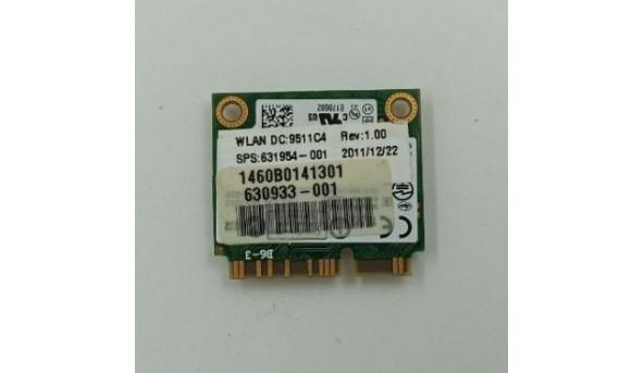 Адаптер WiFi, знятий з ноутбука Packard Bell ZA3, 62205anhmw, 630933-001, 631954-001, б/в, В хорошому стані.
