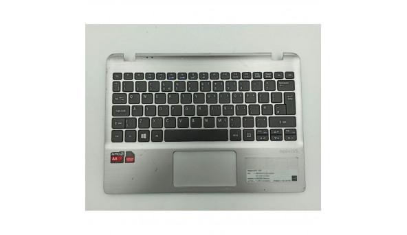 """Середня частина корпуса для ноутбука Acer Aspire V5-122, MS2377, 11.6"""", wis604lk03001, б/в. Кріплення цілі, пошкоджені 2-3 замочки, є подряпини, продається з робочою клавіатурою"""