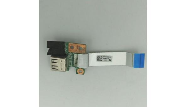 Плата USB роз'єм, для ноутбука HP Pavilion g6, g6-2000 series, dar33tb16c0 REV:C, 34r33ub0010, б/в, без пошкоджень