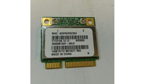 Адаптер WiFi, знятий з ноутбука Dell Inspiron M5030, t77h126.12, AR5B95, б/в, В хорошому стані.