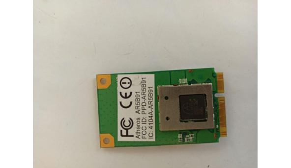 Адаптер WiFi, знятий з ноутбука Medion MD96630, t77h053, ar5b91, б/в, В хорошому стані.