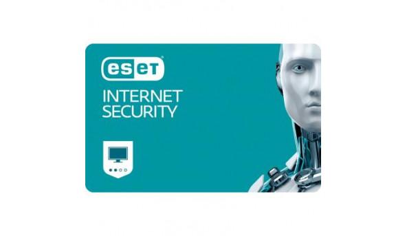 Антивирус Eset Internet Security 4ПК 12 мес. base/20 мес продление конверт (2012-5-key)