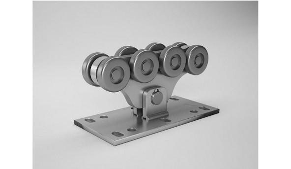 Фурнітура для відкатних консольних воріт Alutech до 500 кг з оцинкованою шиною