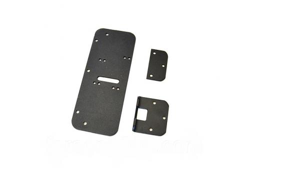 Комплект деталей для металопластикових дверей (чорний) Dori