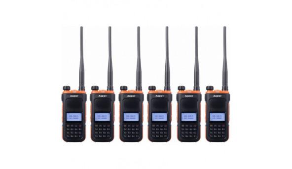 Портативная рация Agent AR-UV10 Six Pack комплект 6 шт (AR-UV10_6)