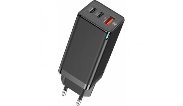 Зарядное устройство Baseus GaN2 Pro QC 2C+U 65W + Cable Type-C 100W black (CCGAN2P-B01)