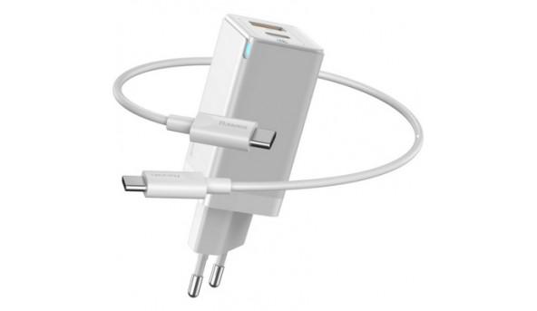 Зарядное устройство Baseus GaN2 QC C+U 45W + Cable Type-C 100W (CCGAN-Q02)
