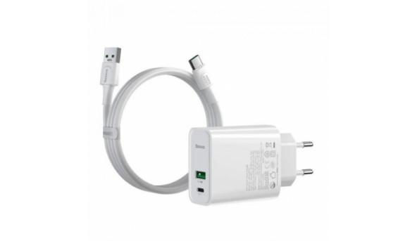 Зарядное устройство Baseus Speed PPS QC C+A 30W VOOC Edition + Flash Cabl (TZCCFS-H02)