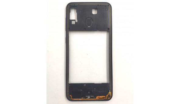 Середня частина корпусу рамка для Samsung A30, Б/В. Оригінал з розборки