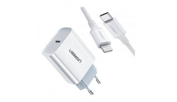 Зарядное устройство Ugreen CD137 Type-C PD 20W Charger (White) (60450)