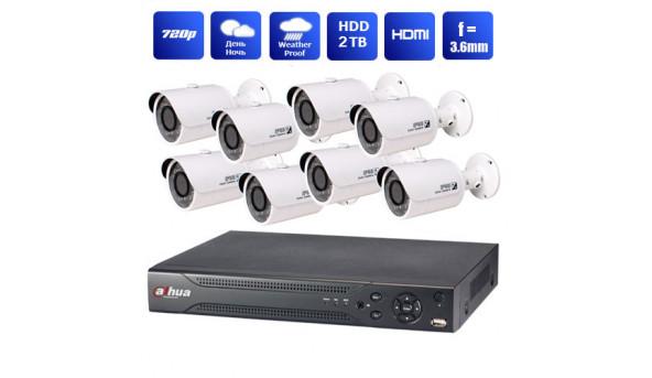 Комплект IP відеоспостереження Avigard 1P+8XF1100S