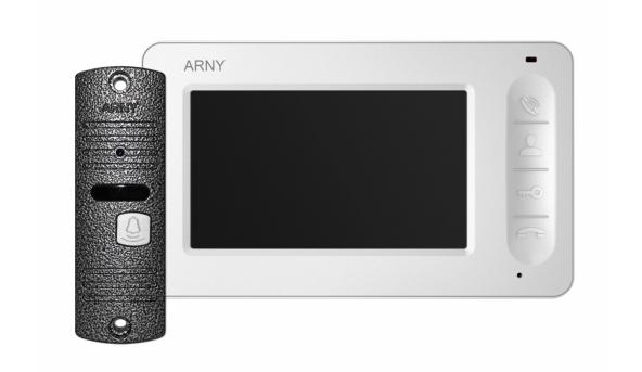 Комплект видеодомофона ARNY AVD-4005 Белый \ Серый