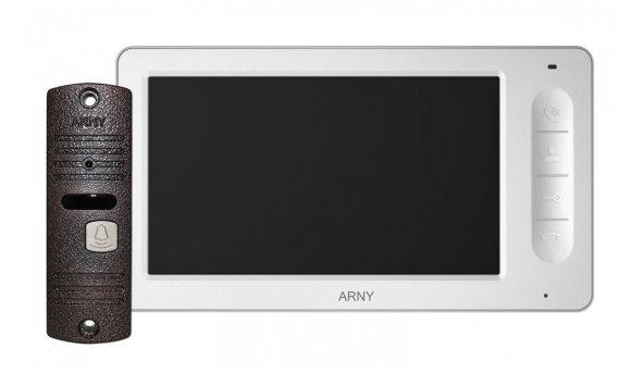 Комплект видеодомофона ARNY AVD-7006 Белый \ Коричневый