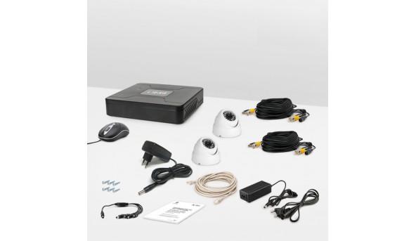 Комплект провідного відеоспостереження Tecsar 2OUT-DOME