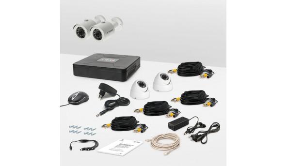 Комплект провідного відеоспостереження Tecsar 4OUT-MIX