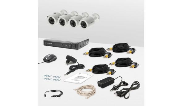 Комплект провідного відеоспостереження Tecsar 4OUT LUX