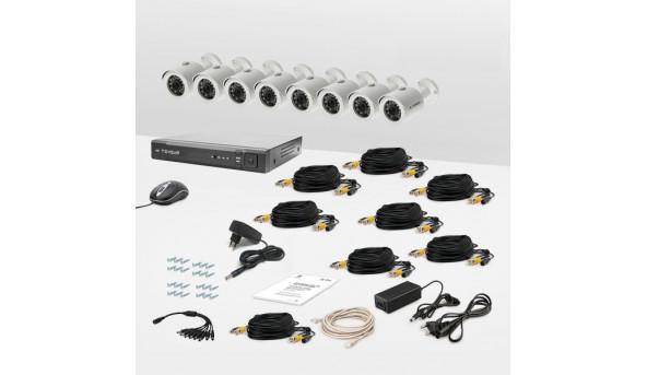 Комплект провідного відеоспостереження Tecsar 8OUT LUX