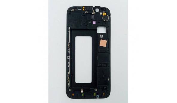 Передня панель корпусу (рамка кріплення дисплея) для Samsung Galaxy J5 2017 J530F Оригінал Чорний Б/в з розборки