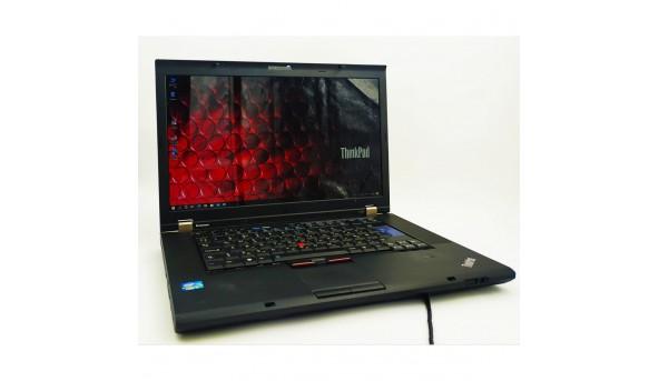 """Комфортний, надійний, бізнес ноутбук Lenovo ThinkPad T530, Intel Core I5-3210m, 6GB ОЗУ, 15.6"""" (1666x768), 320 GB HDD, NVIDIA NVS 5400M 1GB, DVD +/- RW, Wi-Fi, Bluetooth, веб-камера, Windows 10."""