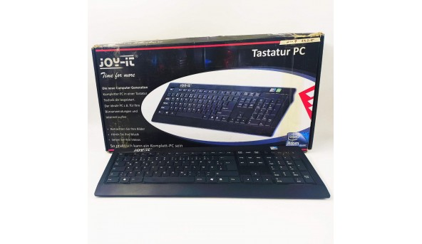 Моноблок Joy-it, Keyboard PC, Intel Atom D525, 4 Гб DDR3, GB 200 HDD, Intel GMA 3150