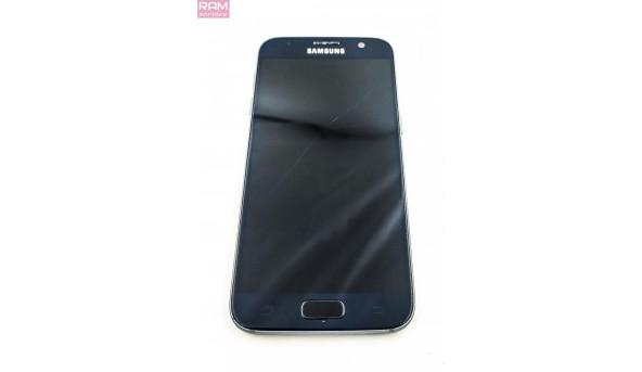 """Робочий телефон з розбитим модулем дисплея Samsung Galaxy S7 Duos G930, 32GB, 4GB ОЗУ  (5.1"""", Super AMOLED, 2560х1440), Exynos 8890 Octa, Android 6.0 (Marshmallow) / 3000 мА·год, LTE ,камера 12 Мп + фронтальна 5 Мп, Б/В"""
