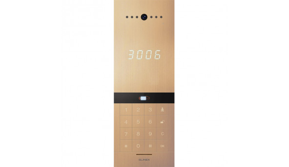Визивна відеопанель для IP-домофонів Slinex Sitara Bio (gold)