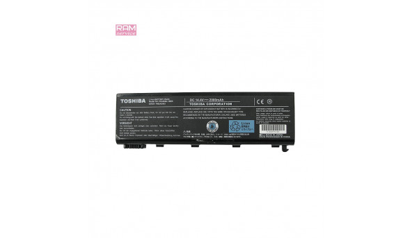 Батарея, акумулятор, Toshiba PA3450U-1BRS, для ноутбука Satellite L100-103, Satellite L100-104, Satellite L100-105, Satellite L100-111, Satellite L100-112, Li-ion Battery, 2000mAh, 14.4V, Б/В, робоча, 15% зносу