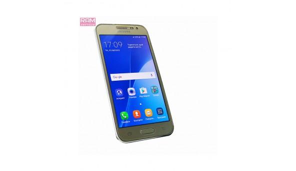 "Смартфон, Samsung Galaxy- J2, (SM-J200H),  4.7"", Samsung Exynos 3475, ОЗУ 1 ГБ, 8 ГБ, основна 5 Мп,  фронтальна 2 Мп, Android 5.1.1, Б/В"